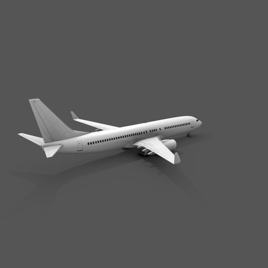 Boeing 737-800 royalty-free 3d model - Preview no. 3