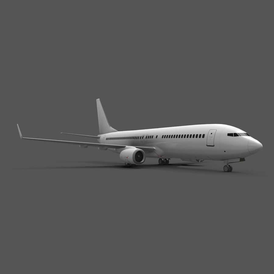Boeing 737-800 royalty-free 3d model - Preview no. 4