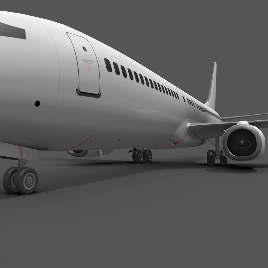 Boeing 737-800 royalty-free 3d model - Preview no. 7