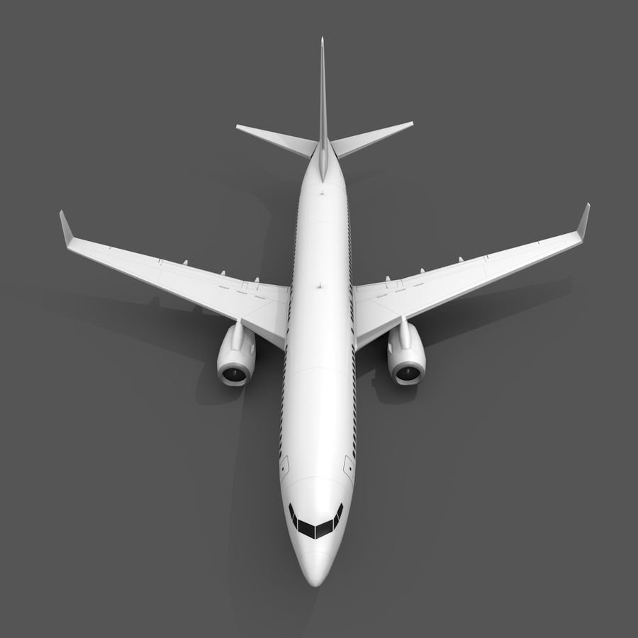 波音737-800 royalty-free 3d model - Preview no. 3