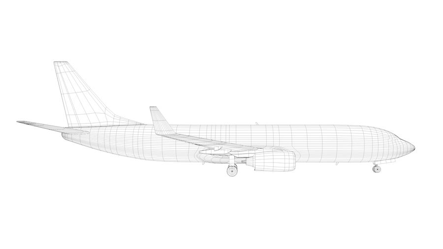 波音737-800 royalty-free 3d model - Preview no. 8
