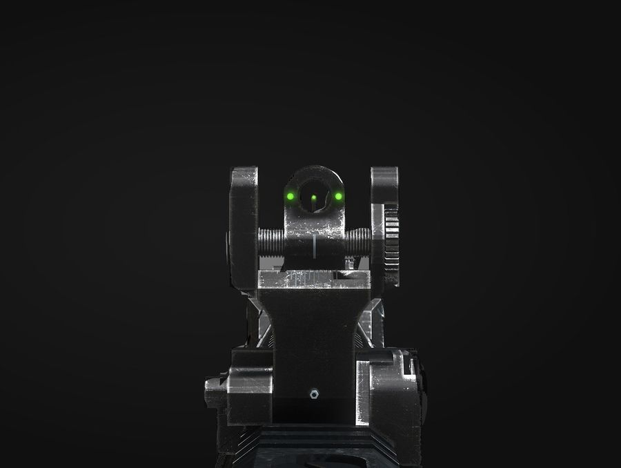 Scifi weapon royalty-free 3d model - Preview no. 6