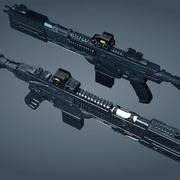 Scifi weapon 3d model