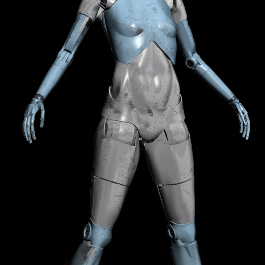 Medical Attendance Robot royalty-free 3d model - Preview no. 7