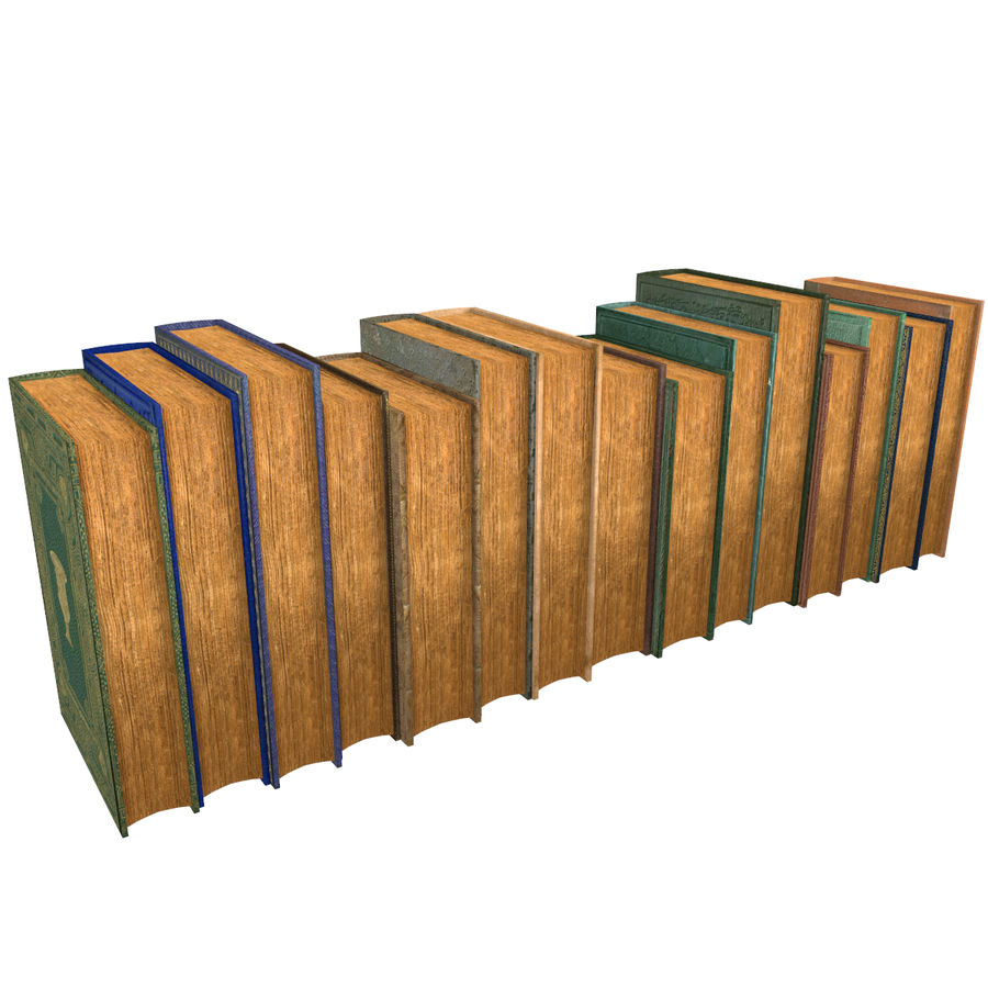 Books Old Collection 1 Low Poly royalty-free 3d model - Preview no. 13