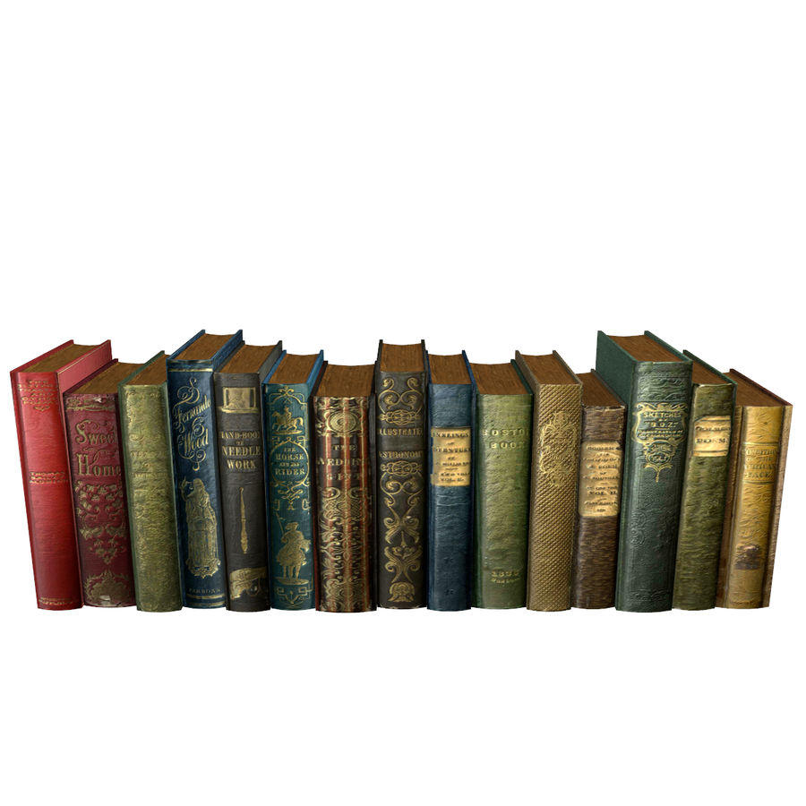 Books Old Collection 1 Low Poly royalty-free 3d model - Preview no. 4