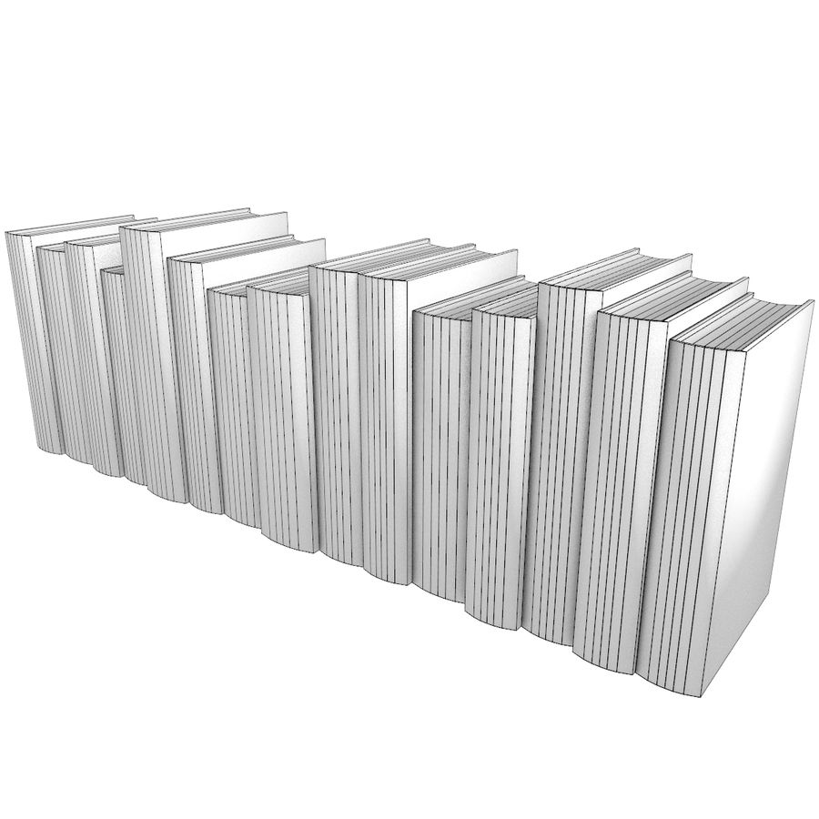 Books Old Collection 1 Low Poly royalty-free 3d model - Preview no. 10