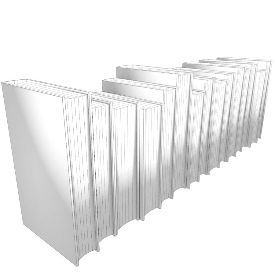 Books Old Collection 1 Low Poly royalty-free 3d model - Preview no. 22