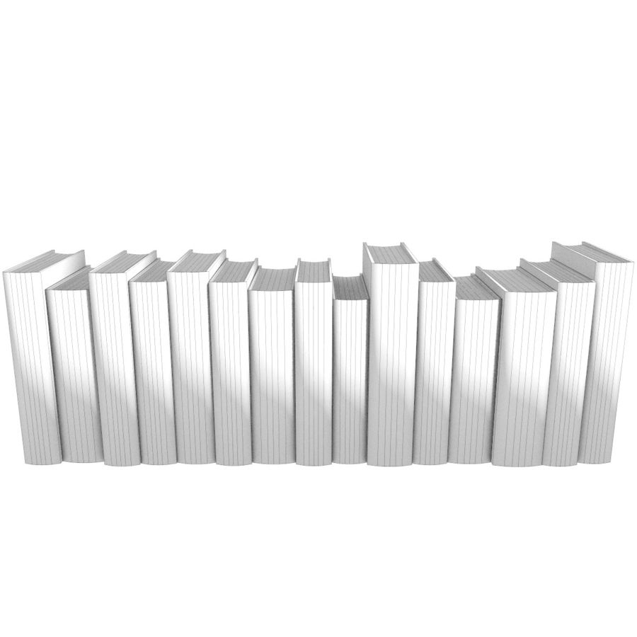 Books Old Collection 1 Low Poly royalty-free 3d model - Preview no. 20