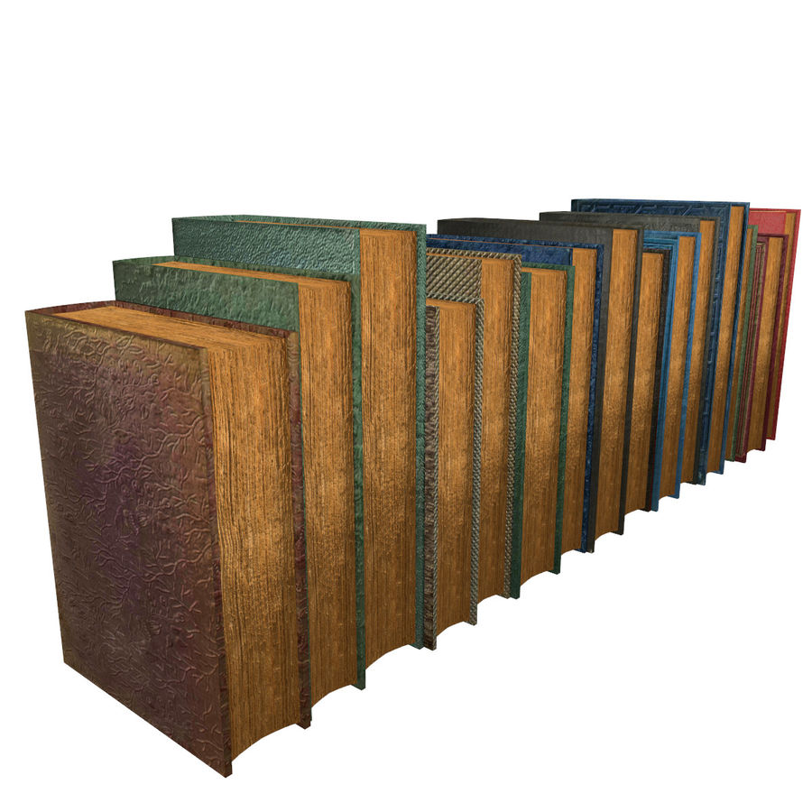 Books Old Collection 1 Low Poly royalty-free 3d model - Preview no. 6
