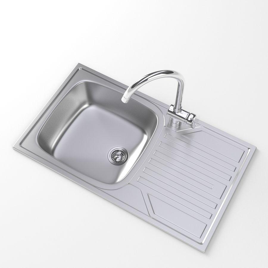 Kitchen Sink Model: Dorado Kitchen Metal Sink With Faucet 3D Model $19