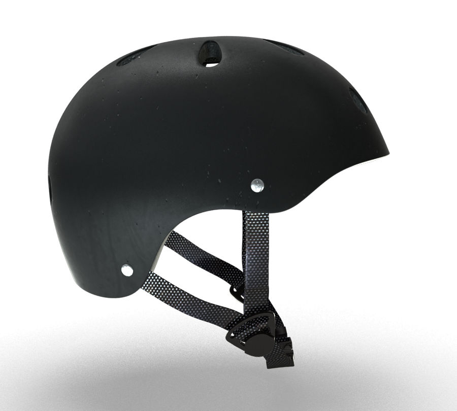 Skate Helmet royalty-free 3d model - Preview no. 7