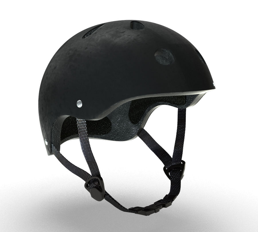 Skate Helmet royalty-free 3d model - Preview no. 3