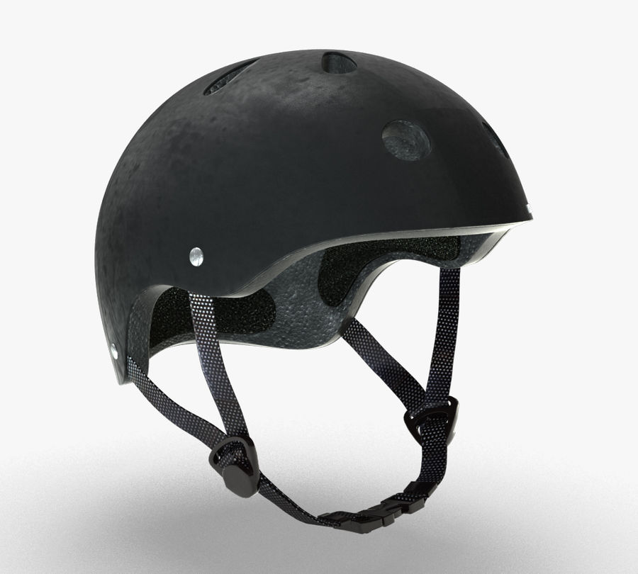 Skate Helmet royalty-free 3d model - Preview no. 1