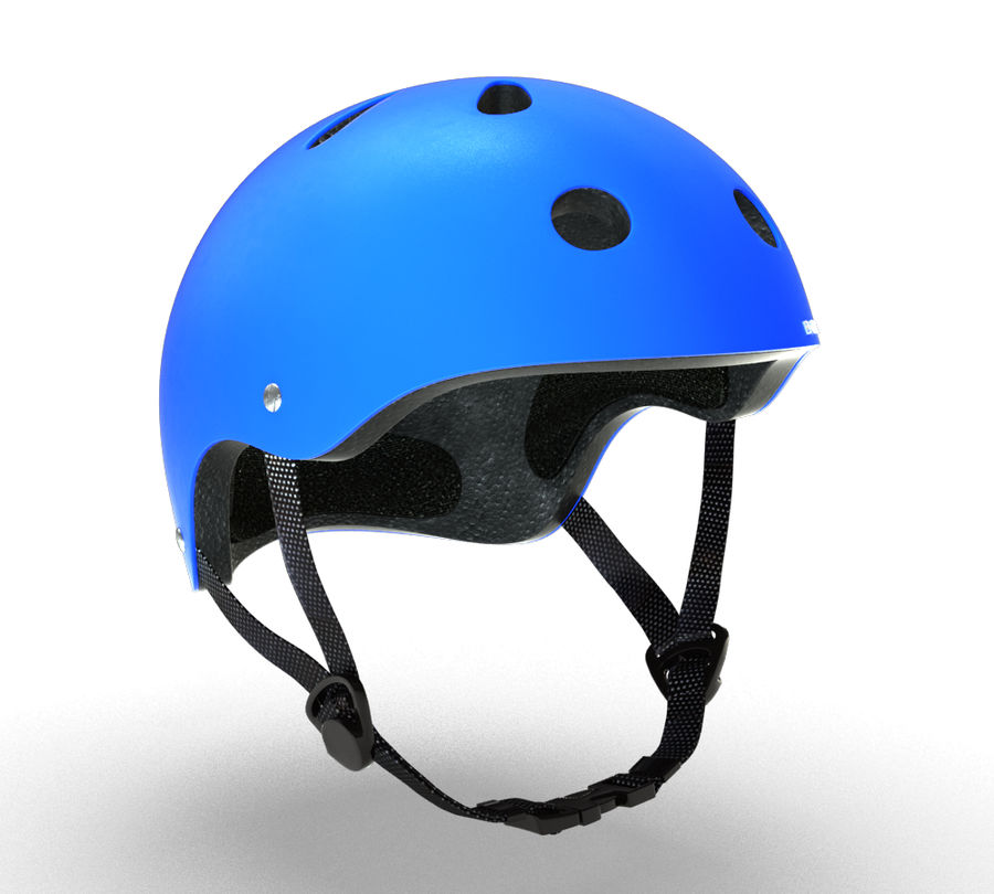 Skate Helmet royalty-free 3d model - Preview no. 9