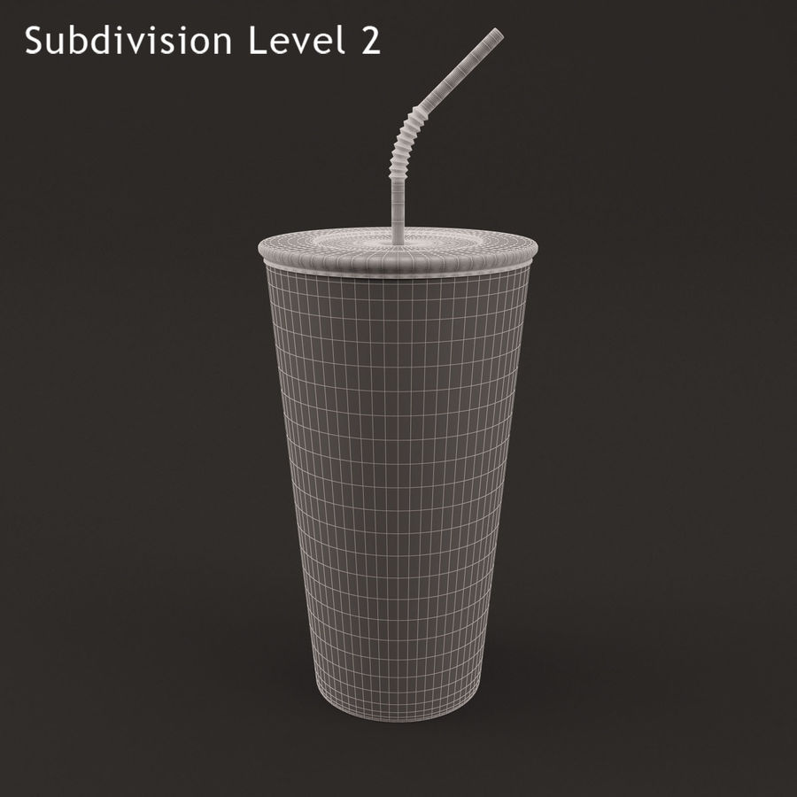 Paper Cup royalty-free 3d model - Preview no. 9
