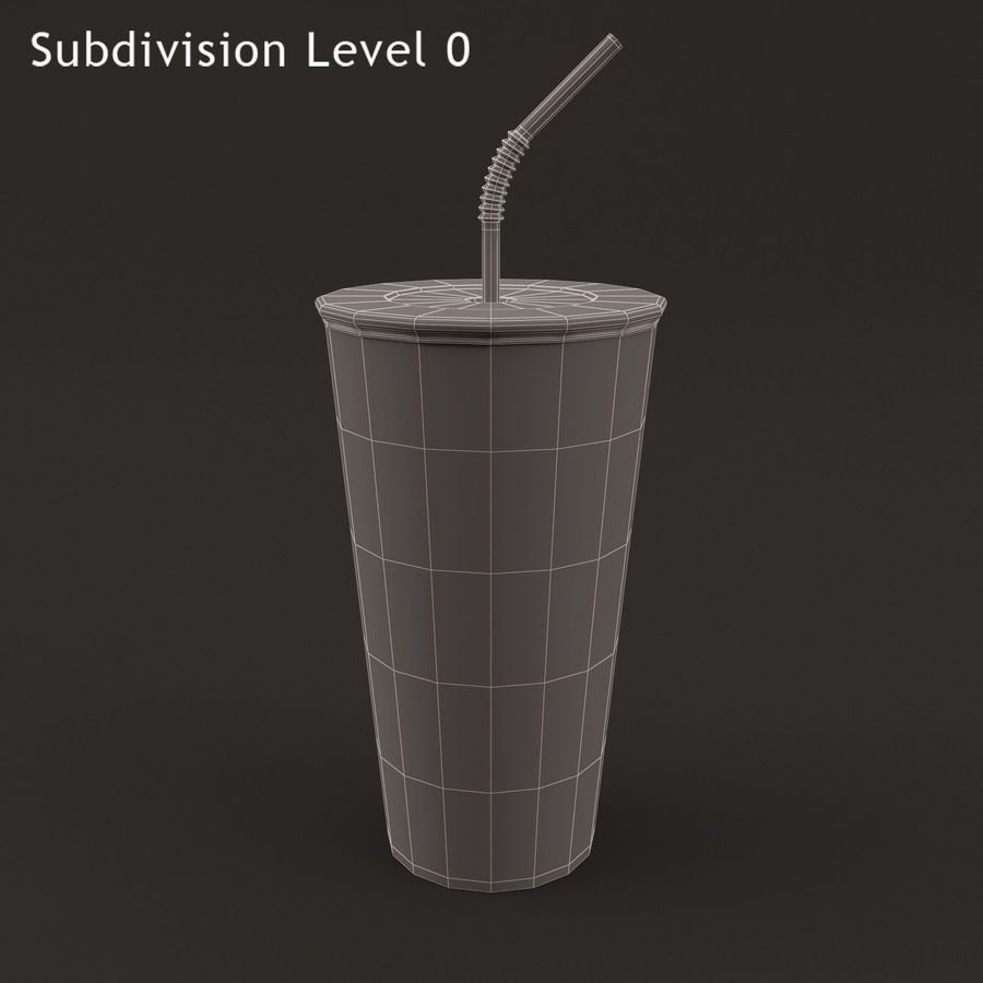 Paper Cup royalty-free 3d model - Preview no. 7