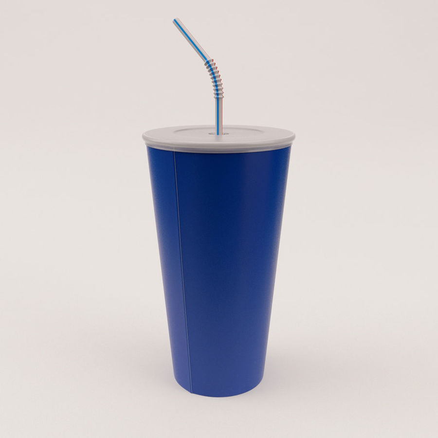 Paper Cup royalty-free 3d model - Preview no. 10