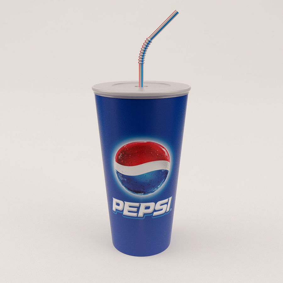 Paper Cup royalty-free 3d model - Preview no. 2