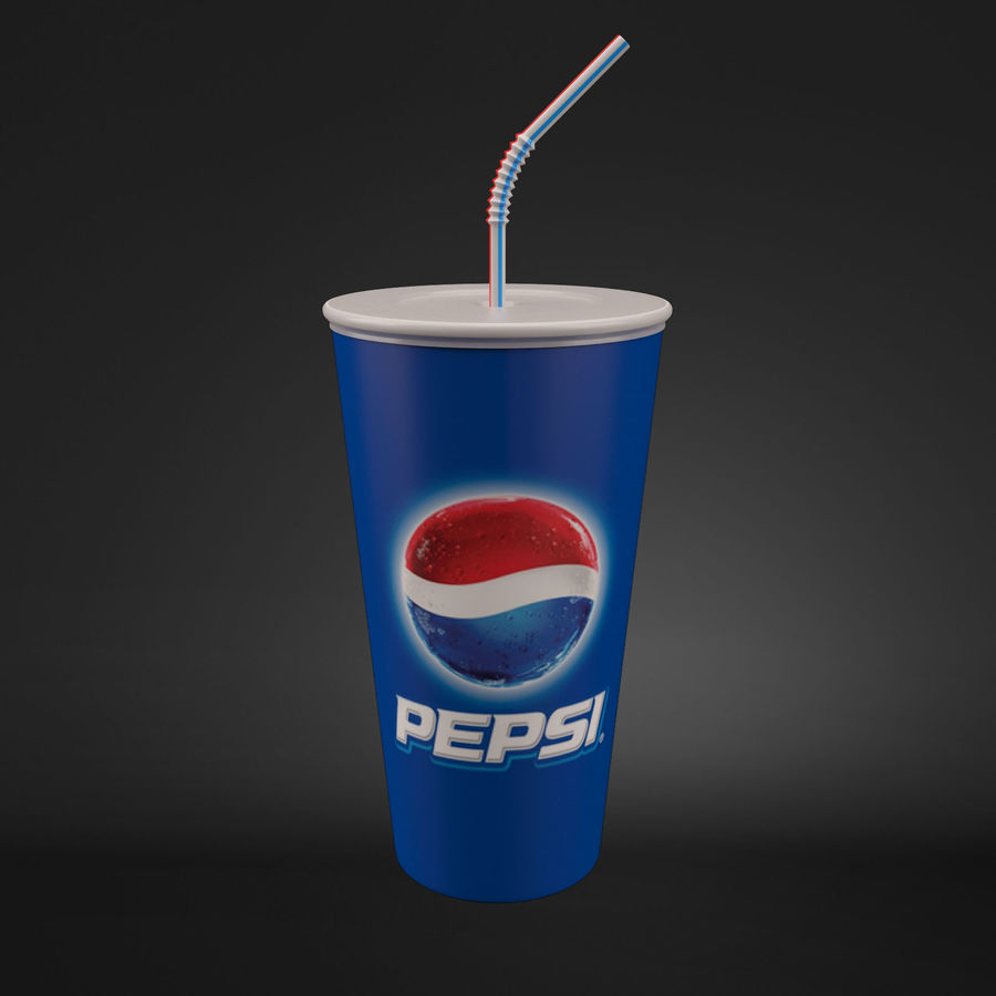 Paper Cup royalty-free 3d model - Preview no. 3