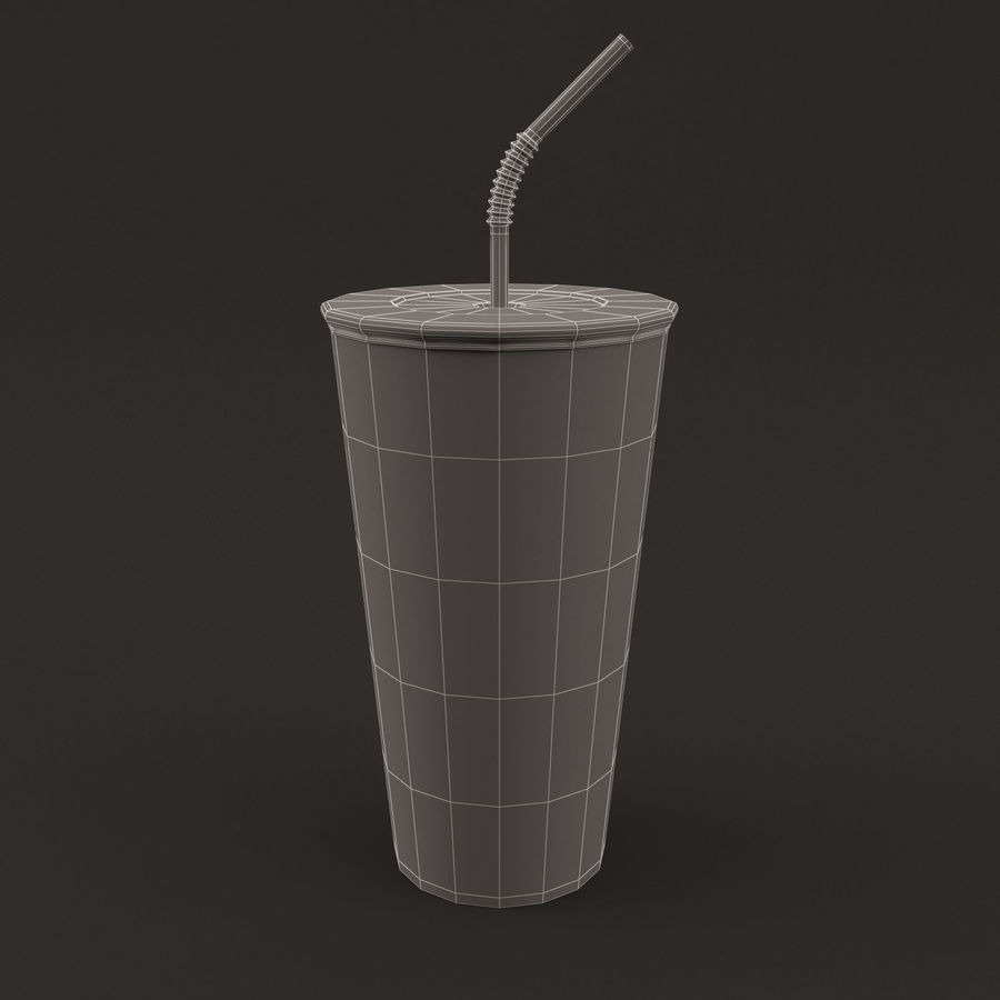 Paper Cup royalty-free 3d model - Preview no. 4