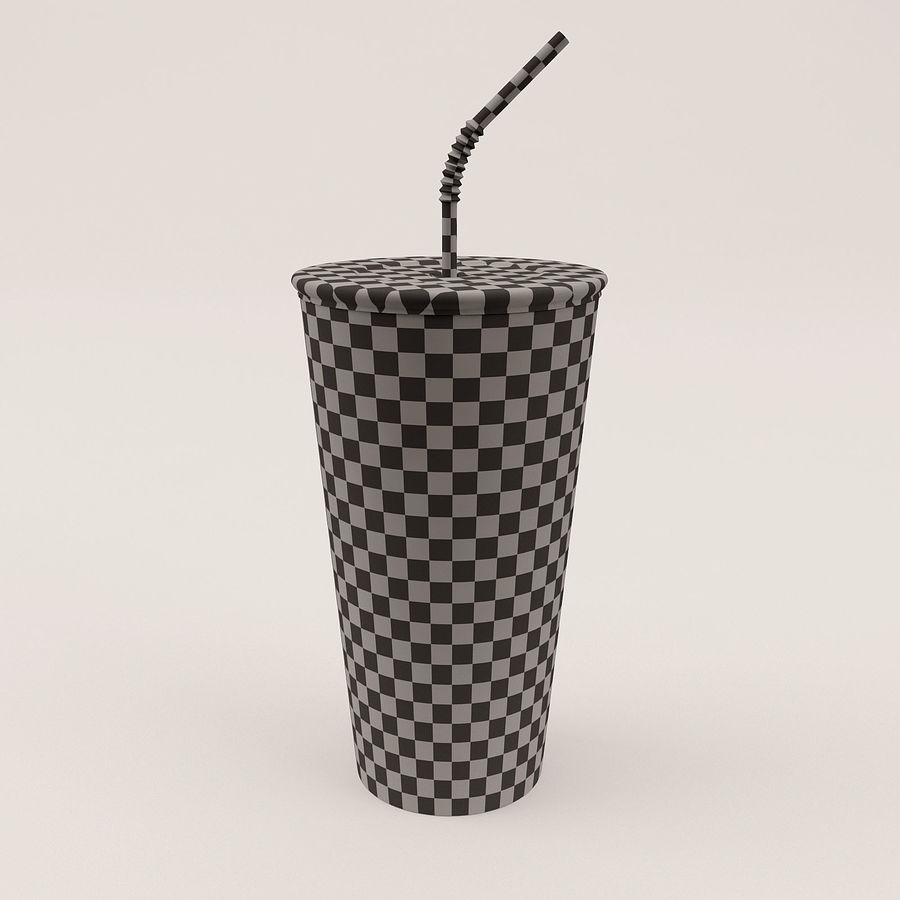 Paper Cup royalty-free 3d model - Preview no. 5
