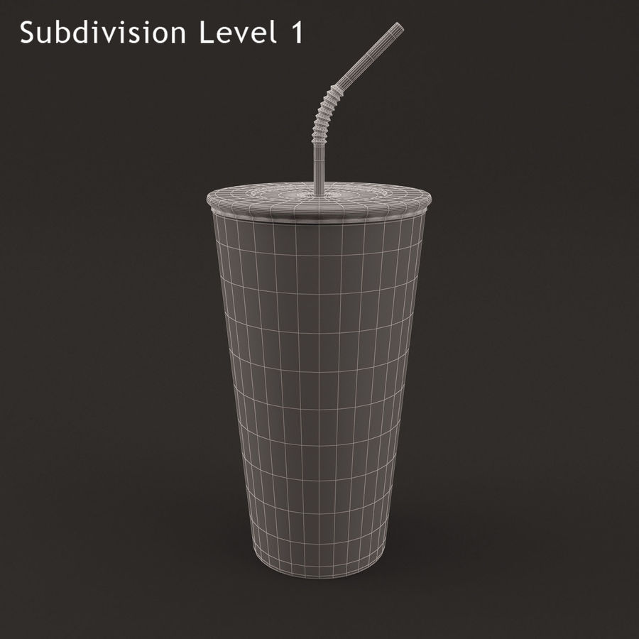 Paper Cup royalty-free 3d model - Preview no. 8