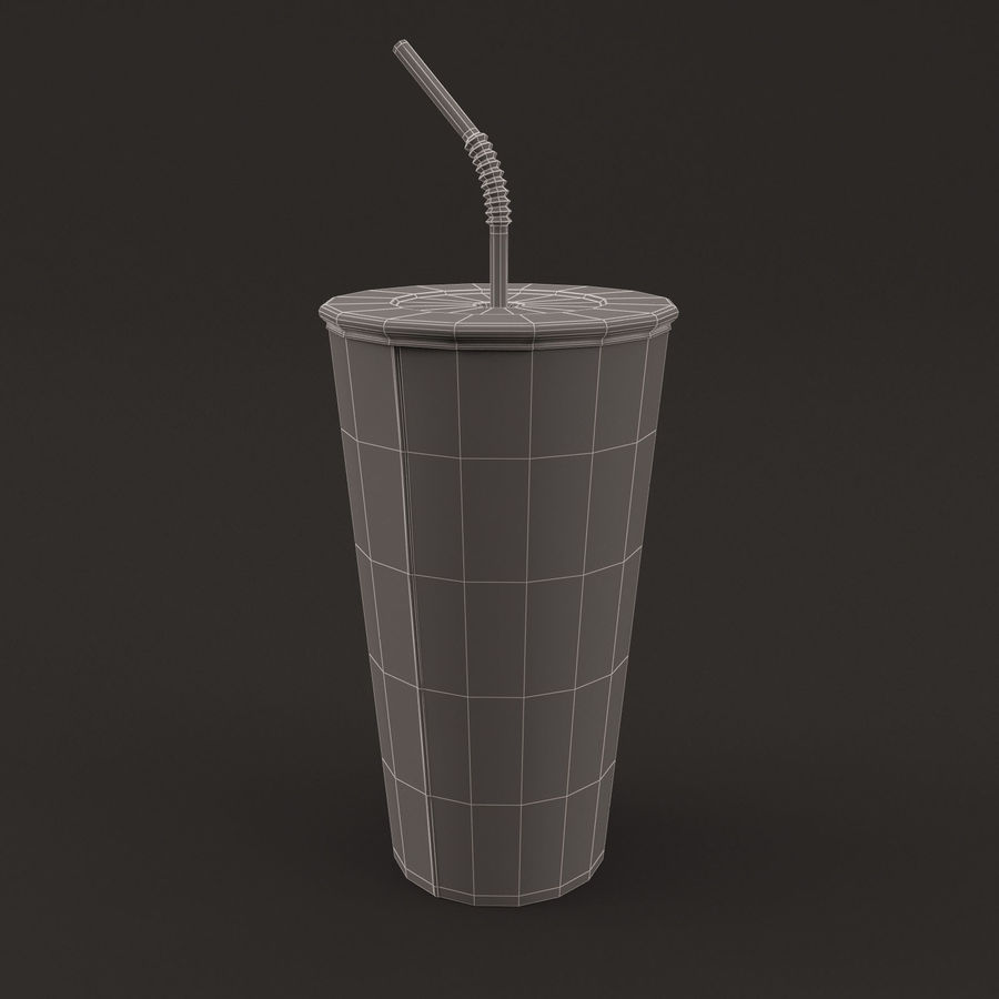 Paper Cup royalty-free 3d model - Preview no. 11