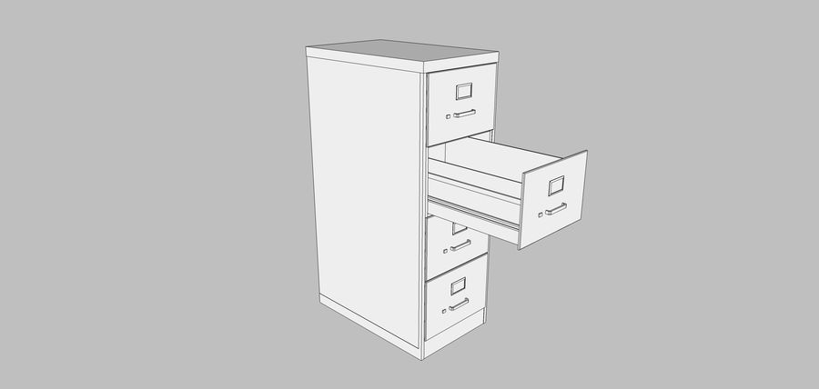 Collezione Mega Office! royalty-free 3d model - Preview no. 121