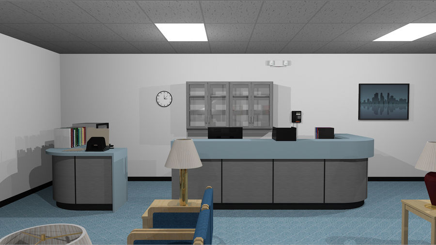Mega Office Collection! royalty-free 3d model - Preview no. 17