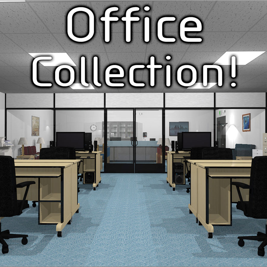 Collezione Mega Office! royalty-free 3d model - Preview no. 1