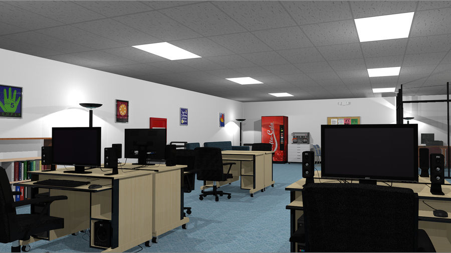 Mega Office Collection! royalty-free 3d model - Preview no. 6