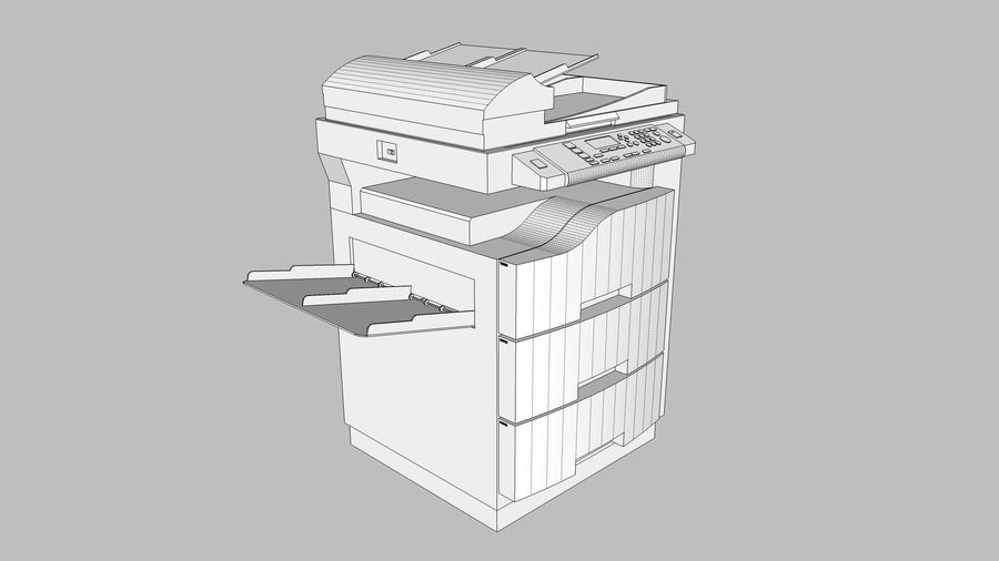 Collezione Mega Office! royalty-free 3d model - Preview no. 117