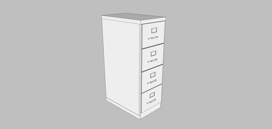 Mega Office-collectie! royalty-free 3d model - Preview no. 120