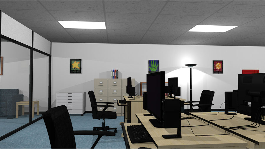 Mega Office Collection! royalty-free 3d model - Preview no. 7