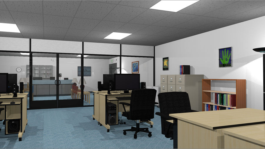 Collezione Mega Office! royalty-free 3d model - Preview no. 14