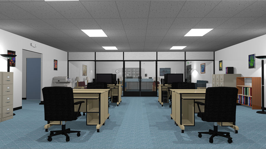 Mega Office Collection! royalty-free 3d model - Preview no. 13