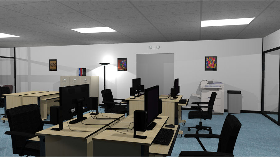 Mega Office Collection! royalty-free 3d model - Preview no. 16