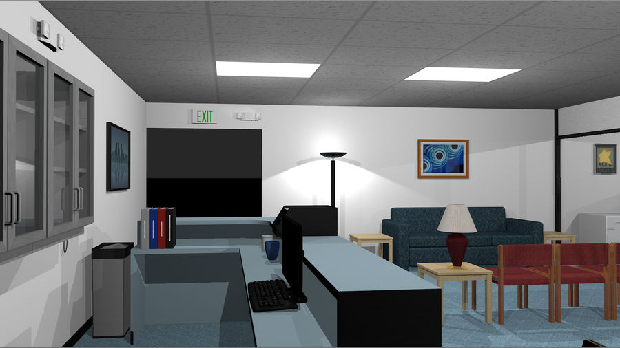 Mega Office Collection! royalty-free 3d model - Preview no. 3