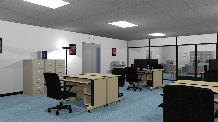 Mega Office Collection! royalty-free 3d model - Preview no. 15
