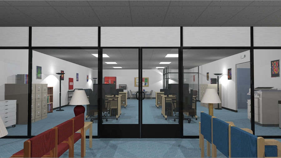 Mega Office-collectie! royalty-free 3d model - Preview no. 5