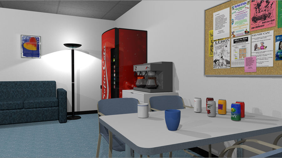 Mega Office Collection! royalty-free 3d model - Preview no. 12