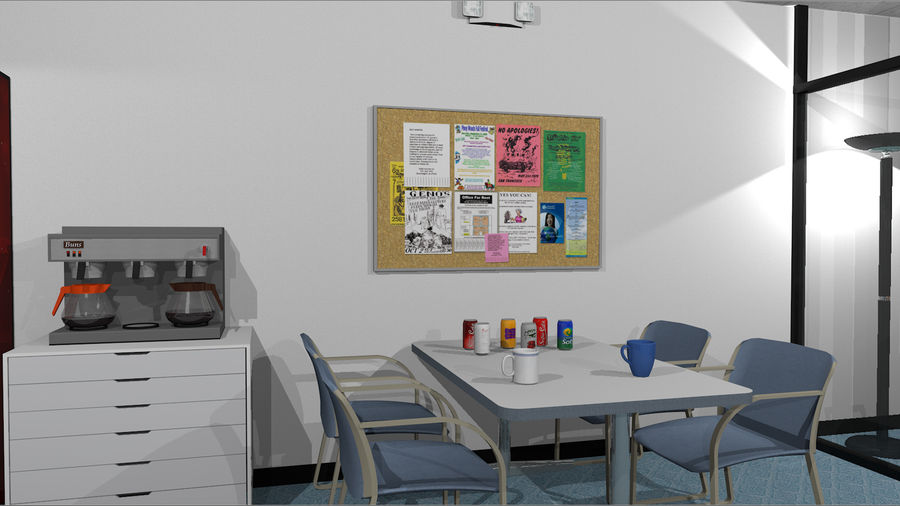 Mega Office Collection! royalty-free 3d model - Preview no. 11