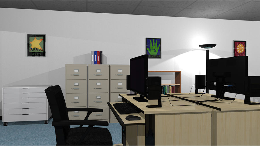Mega Office Collection! royalty-free 3d model - Preview no. 8