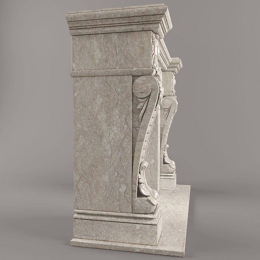fireplace royalty-free 3d model - Preview no. 2