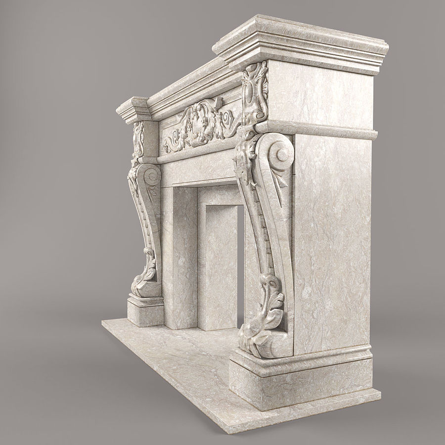 fireplace royalty-free 3d model - Preview no. 3