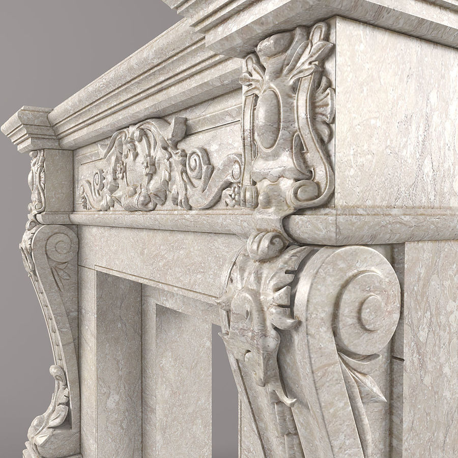 fireplace royalty-free 3d model - Preview no. 5