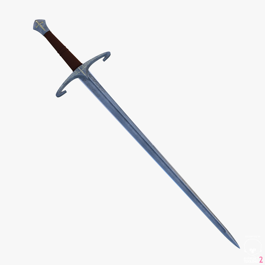Medieval Sword royalty-free 3d model - Preview no. 1