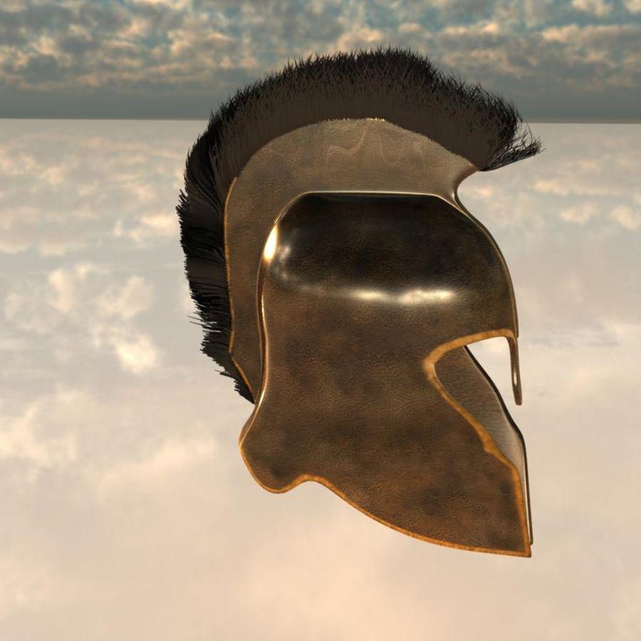 Trojan Helmet royalty-free 3d model - Preview no. 3