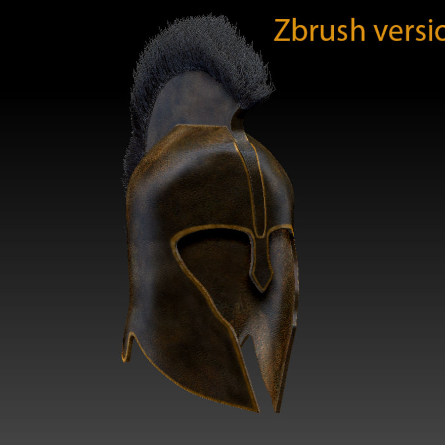 Trojan Helmet royalty-free 3d model - Preview no. 5